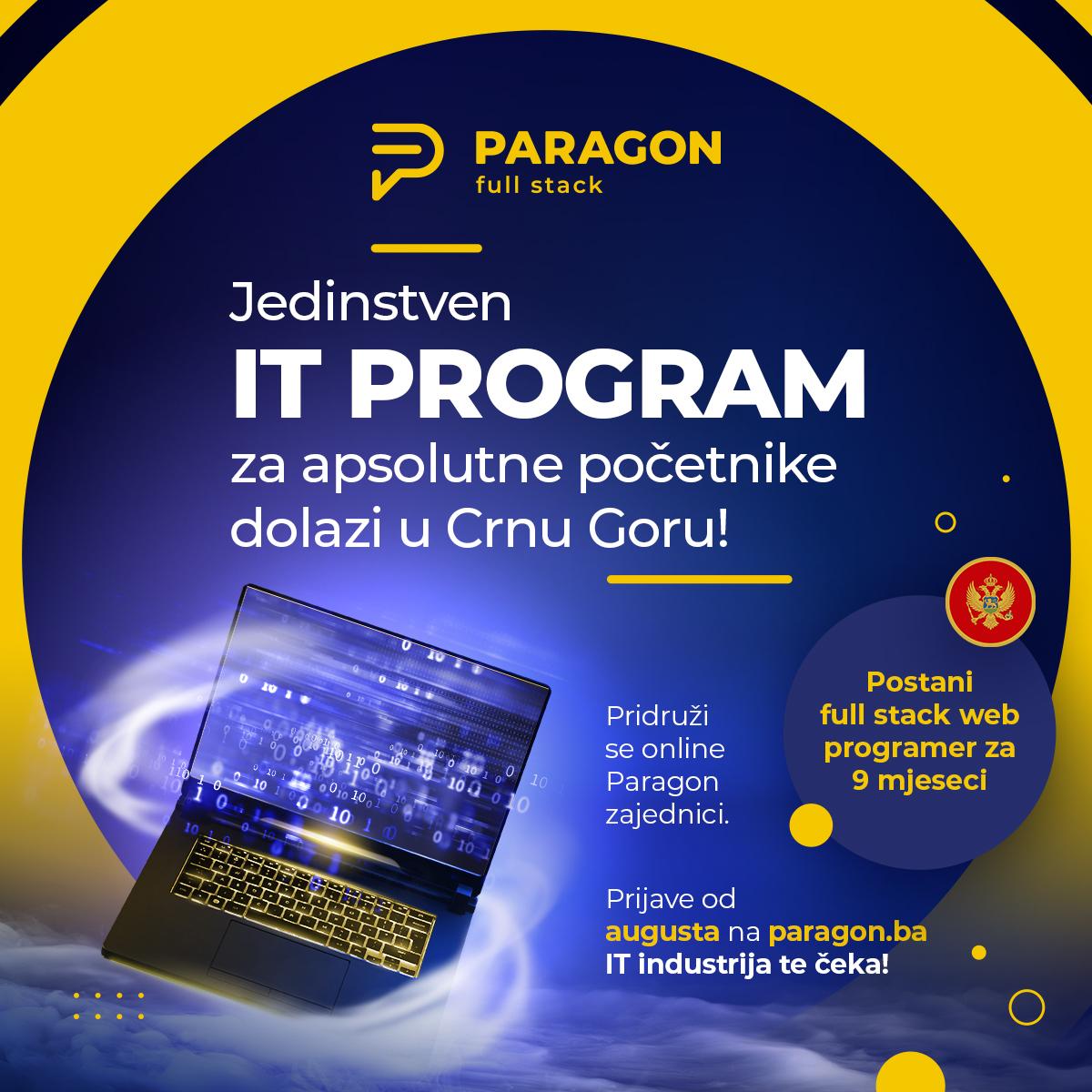 Paragon full stack program je stigao na naše prostore!